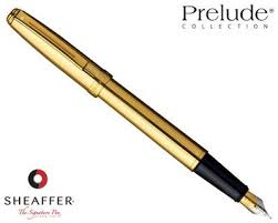 Caneta Sheaffer Prelude Tinteiro Dourada Folheada em Ouro 23K