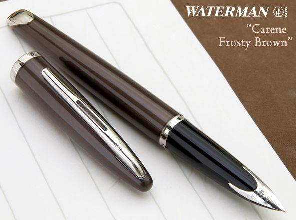 Caneta Waterman Carene Tinteiro Marrom Frosty CT