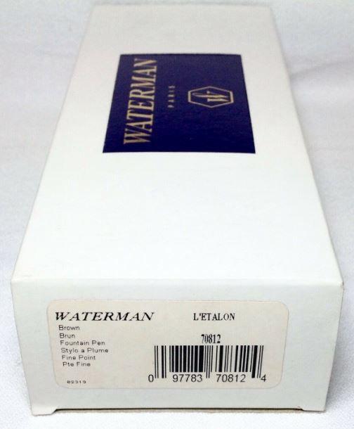 Caneta Waterman L'Ètalon Tinteiro Marrom CT