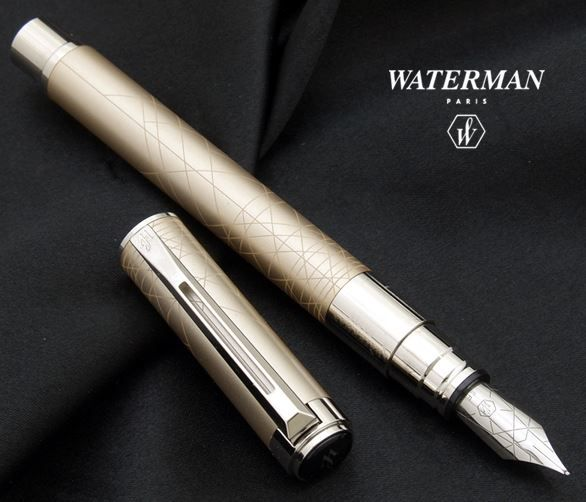 Caneta Waterman Perspective Tinteiro Champagne CT