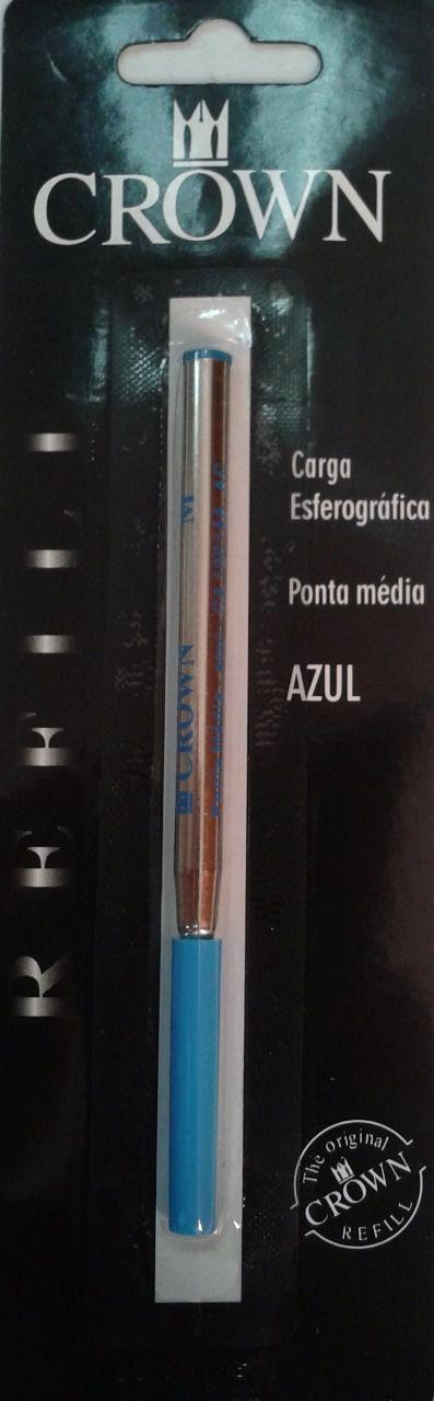 Carga Crown Esferográfica tipo MontBlanc Azul