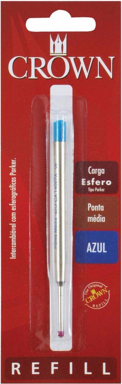 Carga Crown Esferográfica tipo Parker Azul