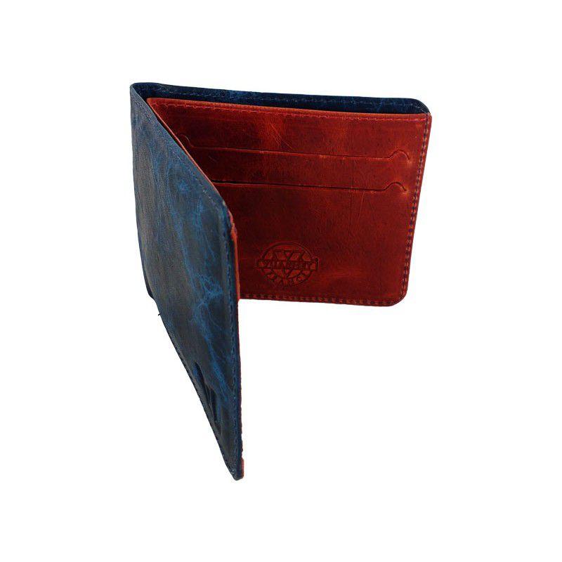 Carteira Vuarnet de Couro Azul e Vermelha
