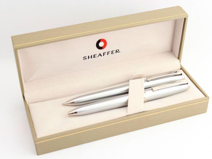 Conjunto Sheaffer Prelude  Caneta Esferográfica e Lapiseira Aço Escovado CT