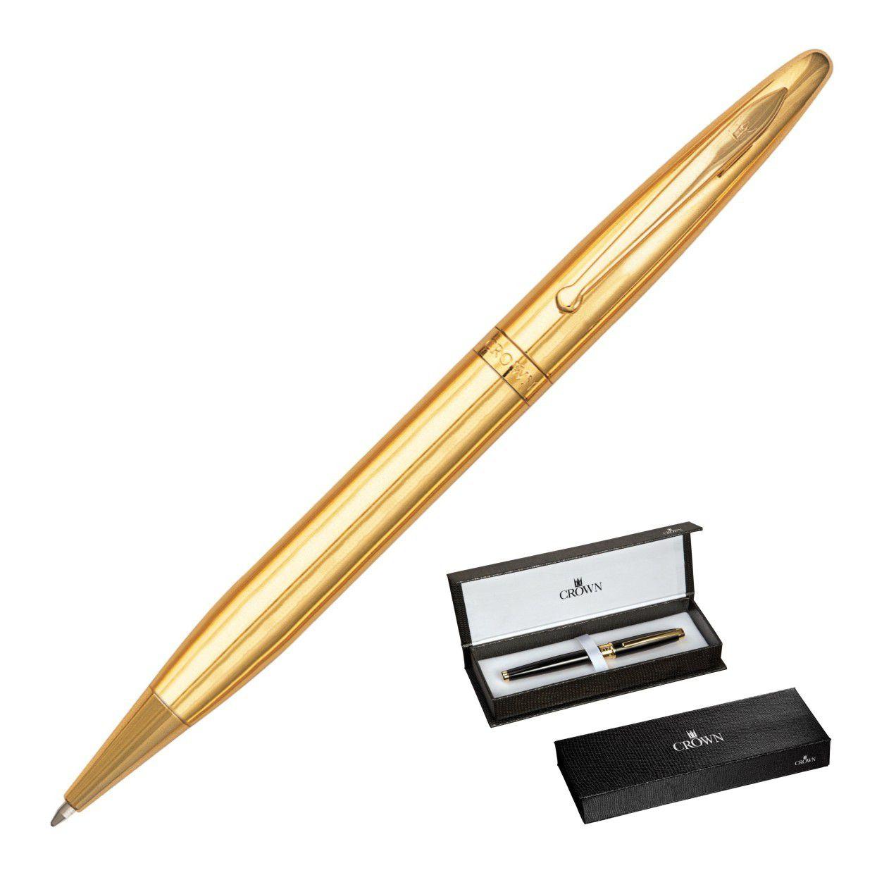 Crown Elegance Esferográfica Dourada