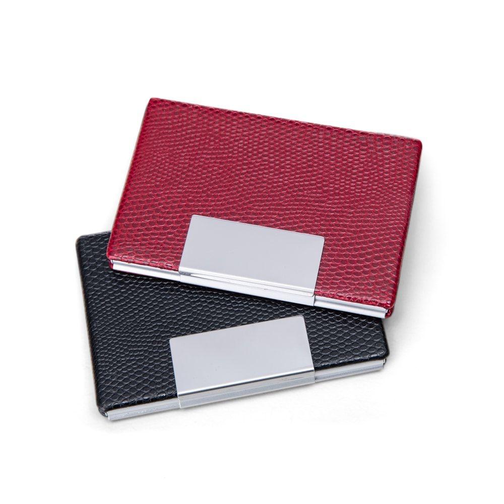 Porta Cartão de Couro  Vermelho