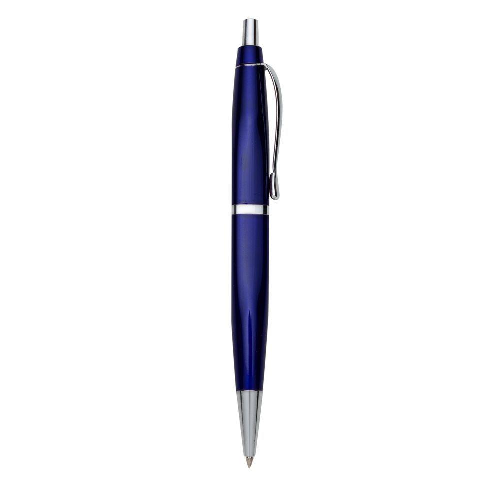 RPen Caneta de Metal Azul com detalhes prateado.