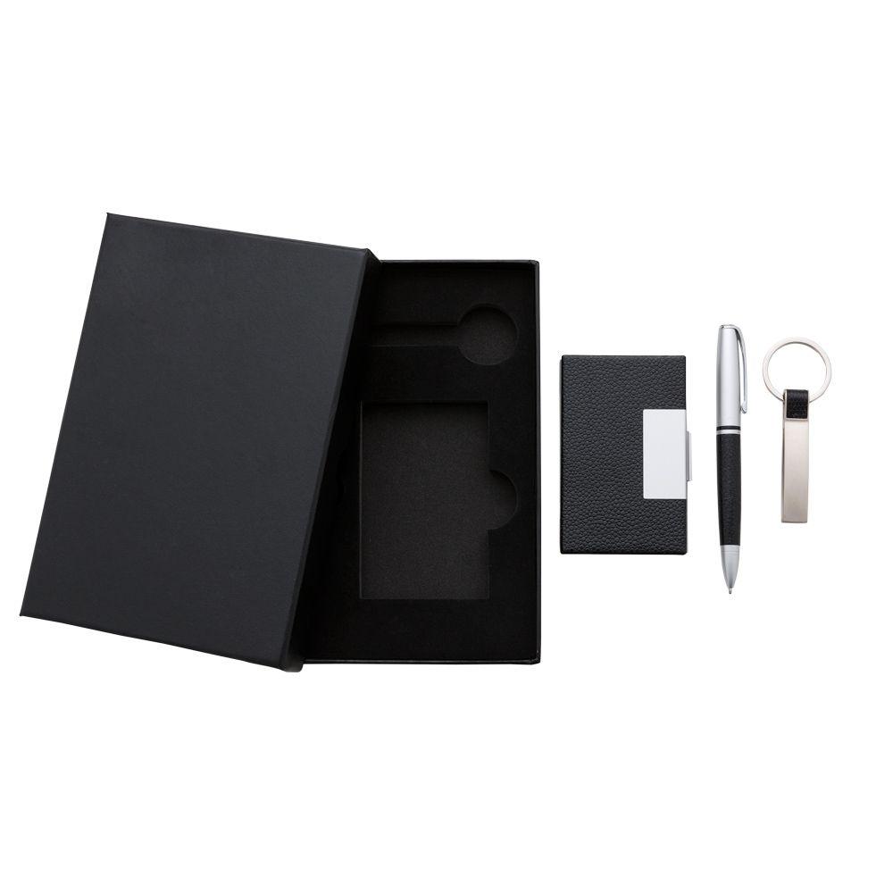 RPen Kit Executivo 3 Peças ( caneta, porta cartão e chaveiro ).