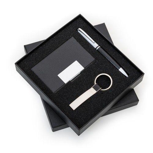 RPen Kit Executivo 3 Pecas ( caneta, porta cartões e chaveiro)