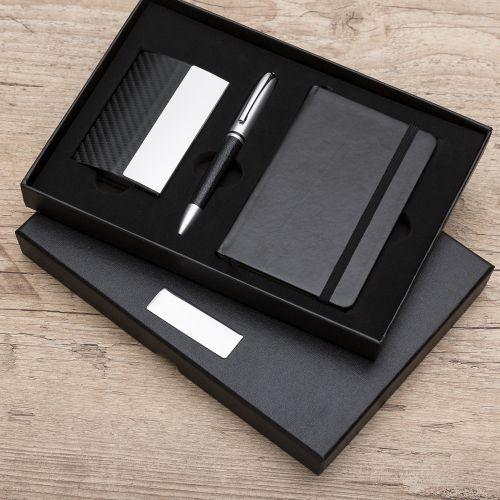 RPen Kit Executivo 3 Peças ( caneta, porta cartões e maleskine)