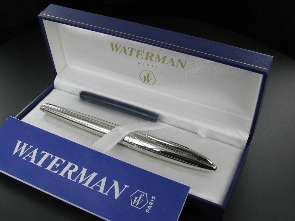 Waterman Carene Meridian Tinteiro Prateada