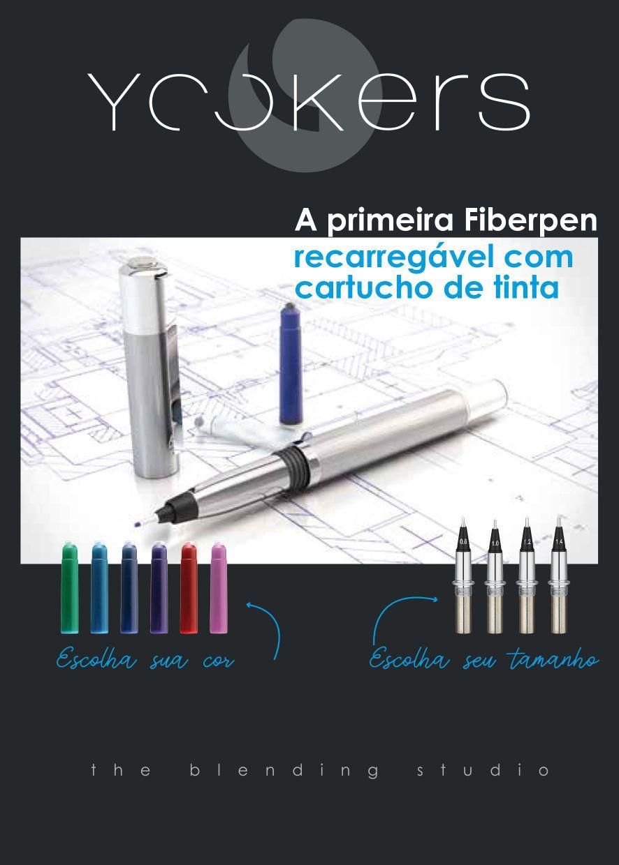 Yookers Fiberpen Metis Metal Cromado Escovado C/ Conversor De Tinta.