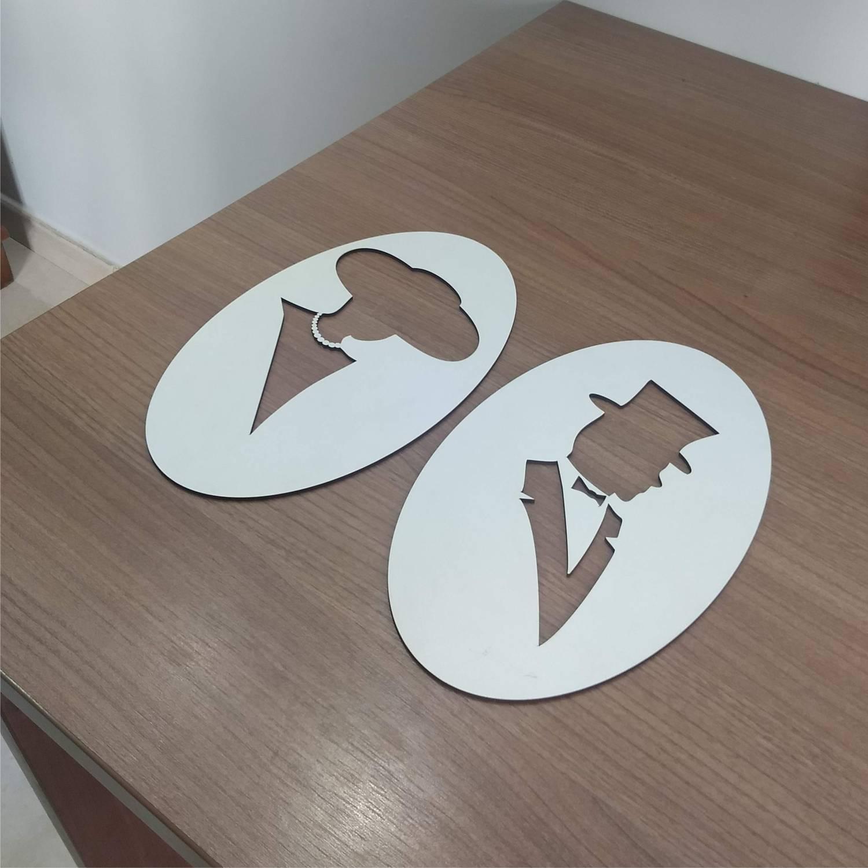 2 Placa indicativa para banheiro
