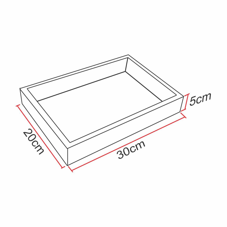 Bandeja Espelhada Mini - Para Banheiro ou sala