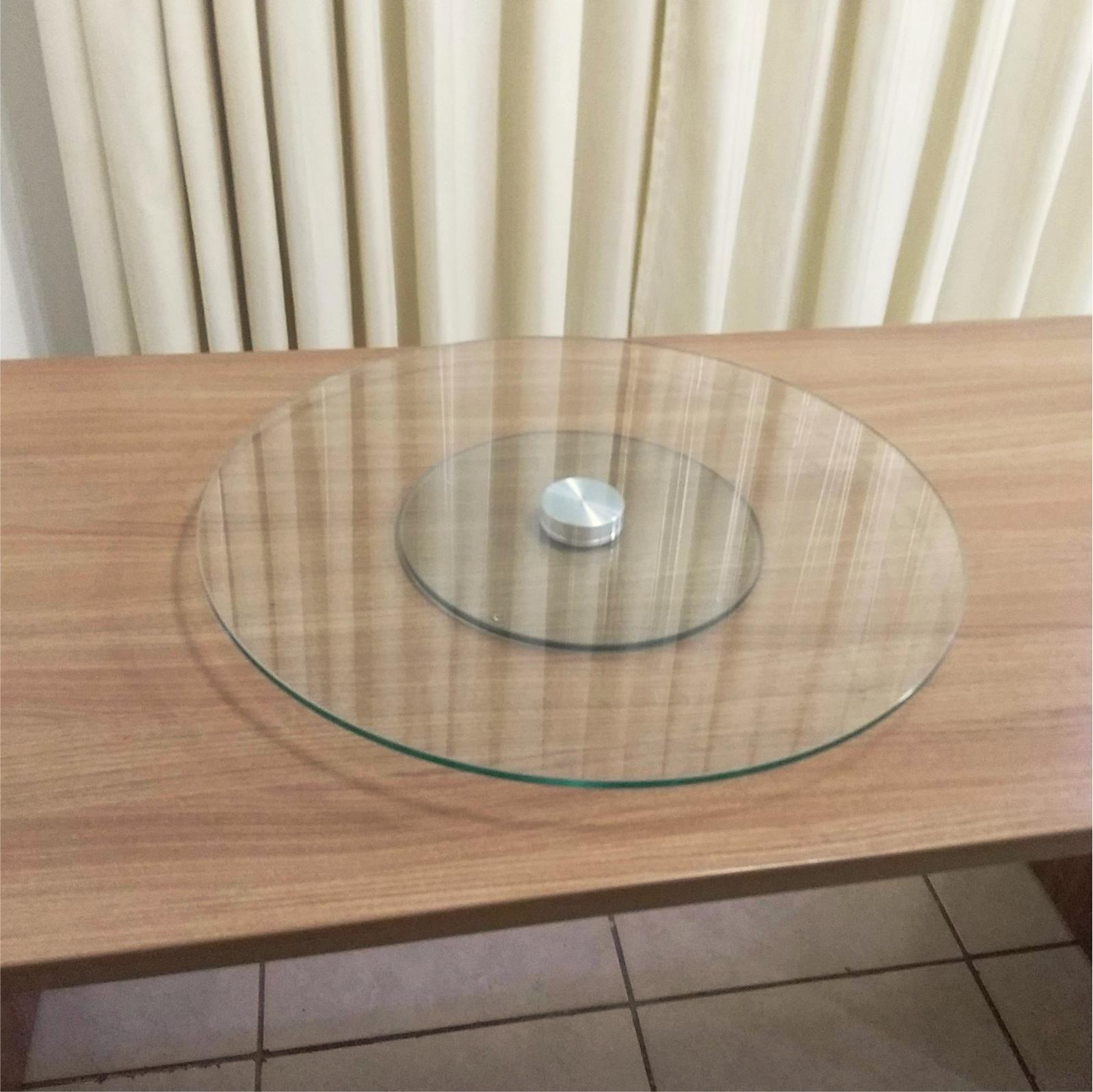 Prato Giratório de vidro incolor