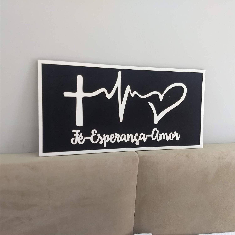 Quadro Fé Esperança e Amor