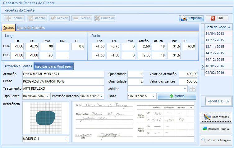 Programa SavWin Revolution Óticas - Desempenho Informática f2b3b2e57b