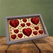 Caixa Coração Diamante retangular - 170 g