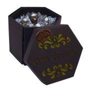 """Caixa para Presente """"Com Carinho"""" com Bombons de Chocolate ao Leite"""