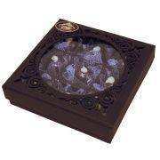Caixa Quadrada para Presente com Chocolate Belga ao Leite