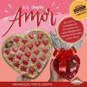 Kit duplo Amor - 2 corações de Chocolate ao Leite Belga - 445g - FRETE GRÁTIS