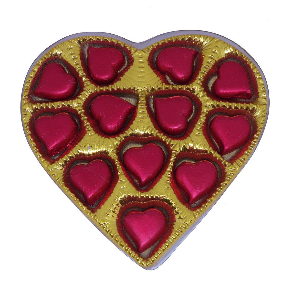 Caixa Dourada Coração P - 85 g