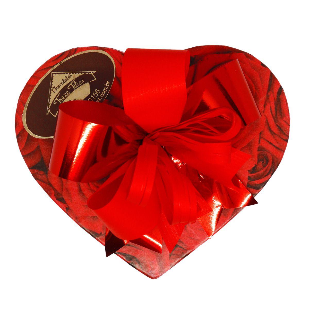 Caixa Pequena de Coração com delicioso Chocolate ao Leite