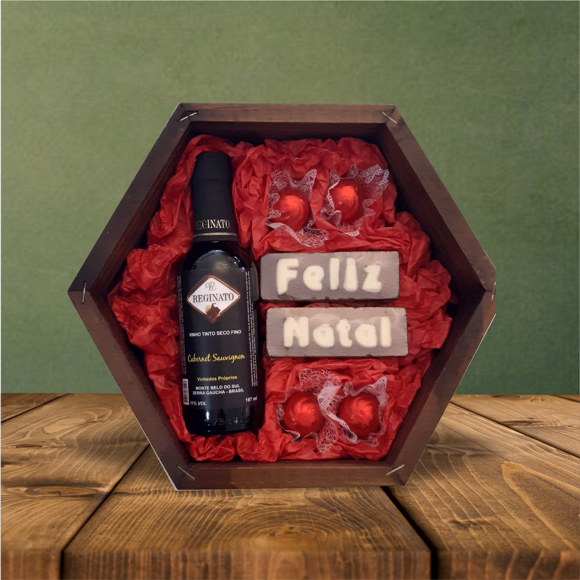Estojo Sextavado Vinho 75 g
