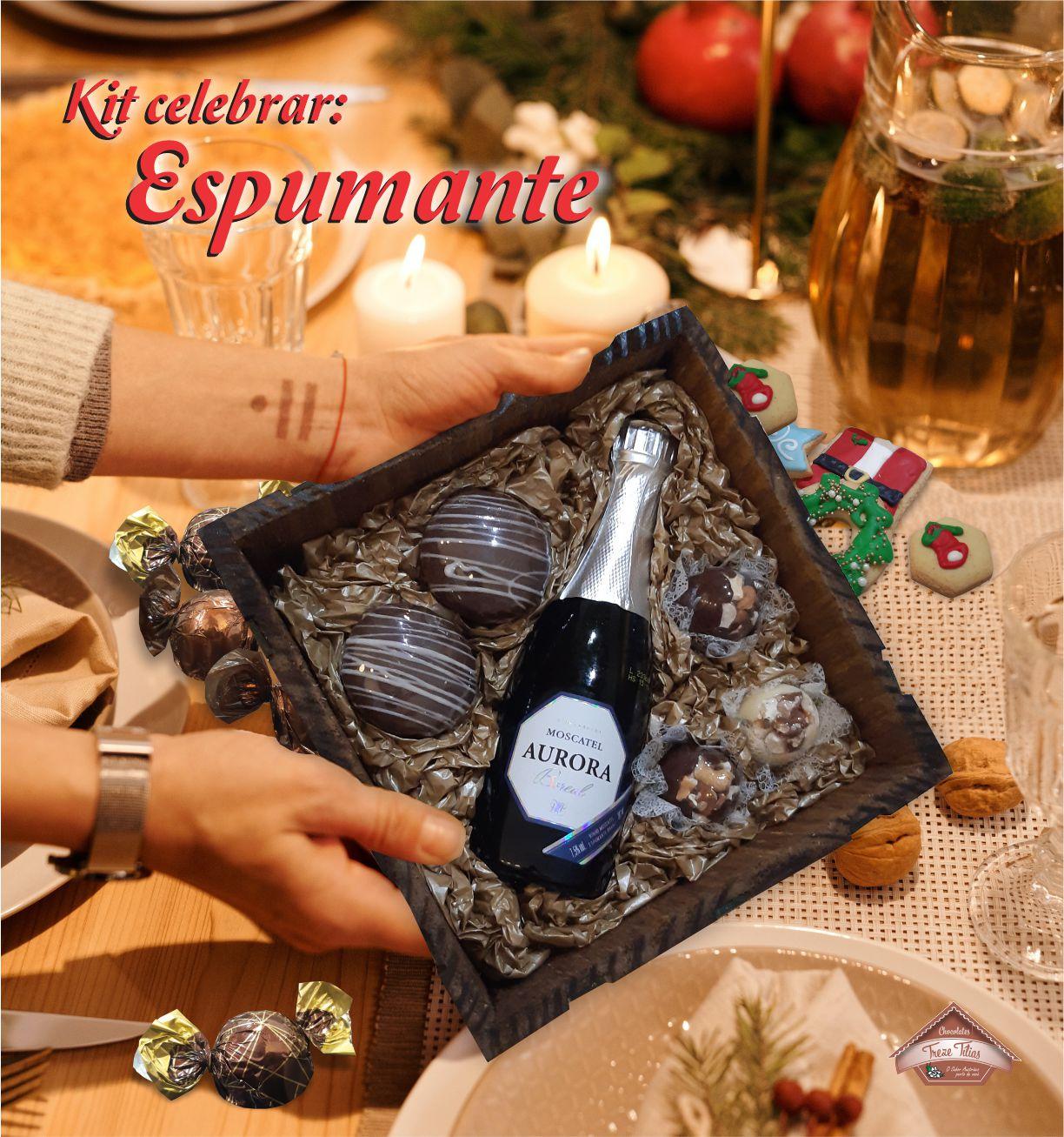 Kit Celebrar com Espumante - FRETE GRÁTIS