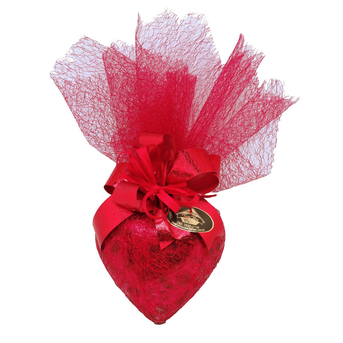 Presente de Coração de Chocolate Belga ao Leite 150g
