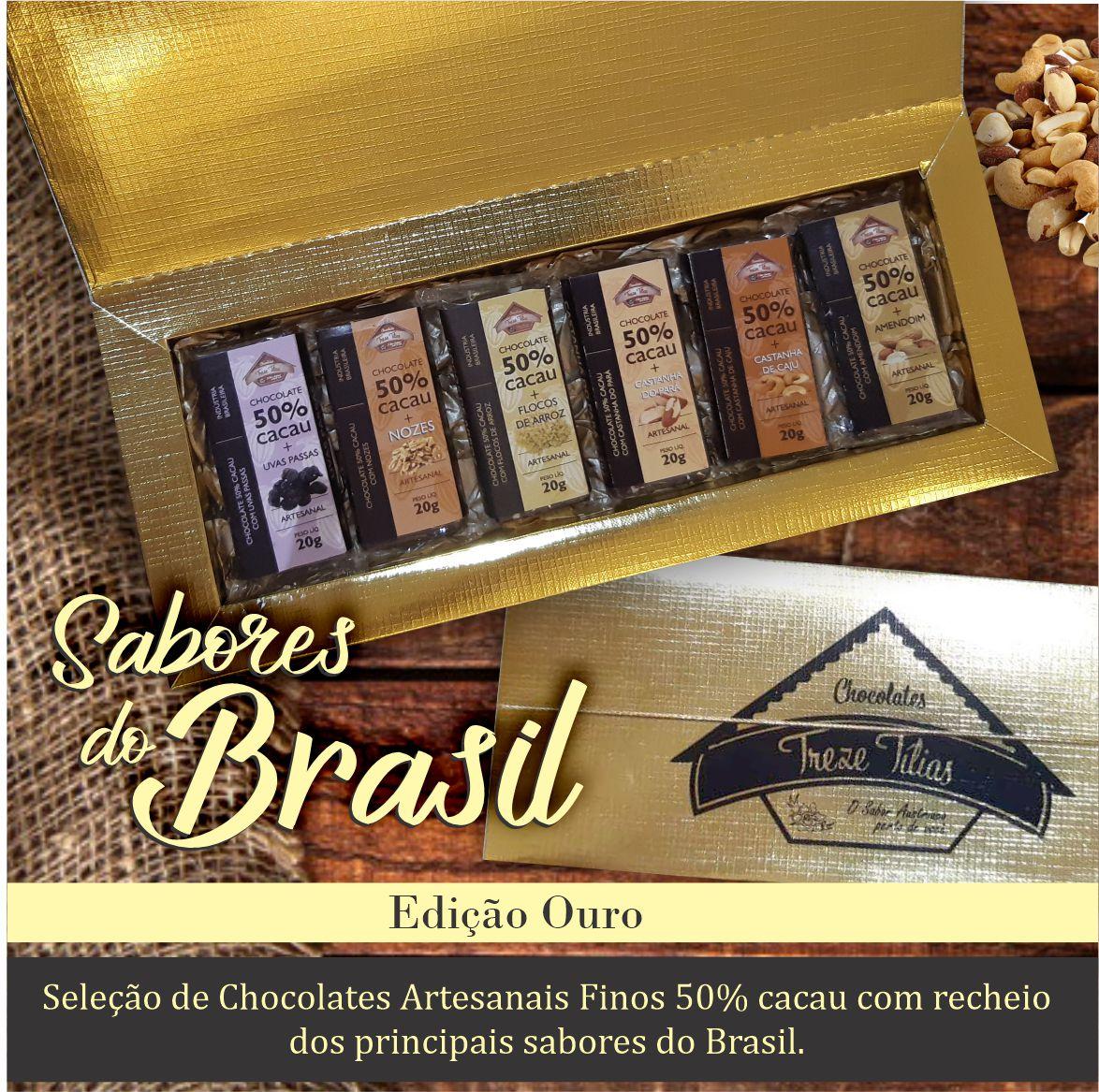 Seleção 50% cacau - Sabores do Brasil - Edição Ouro