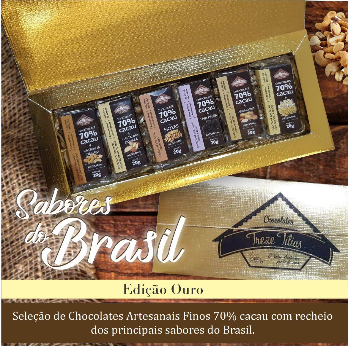 Seleção 70% cacau - Sabores do Brasil - Edição Ouro