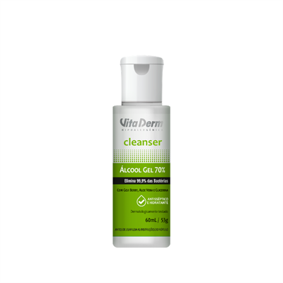 ALCOOL GEL 70% CLEANSER VITA DERM 60ML