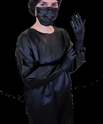AVENTAL BLACK PROTDESC PCT10UN