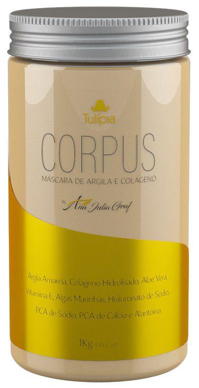 Corpus Máscara de Argila Amarela e Colágeno Flaci10 1kg