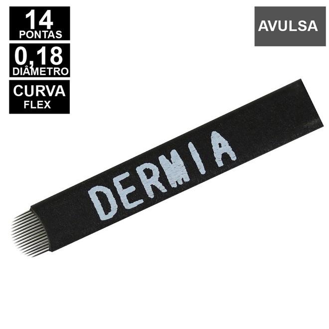 LAMINA DERMIA 14 CURVA FLEX 0,18MM