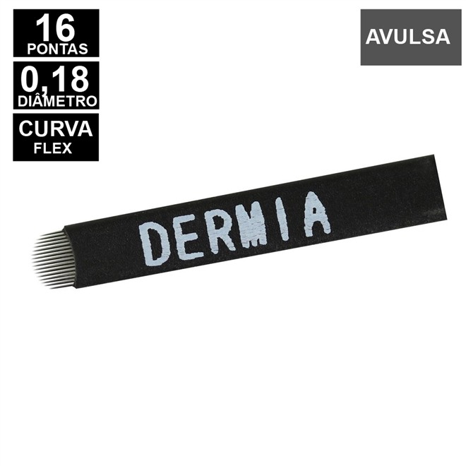 LAMINA DERMIA 16 CURVA FLEX 0,18MM