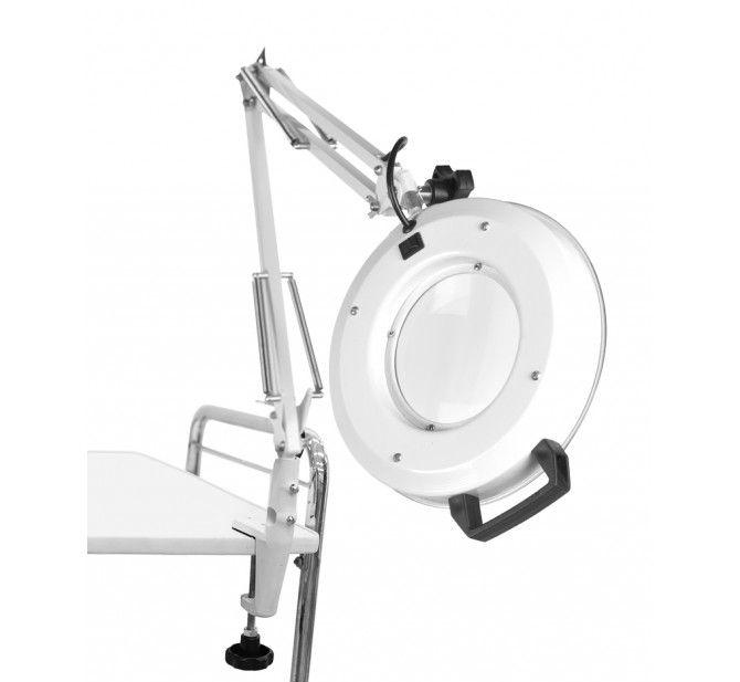 Lupa de Alumínio LED Apoio Mesa Autovolt