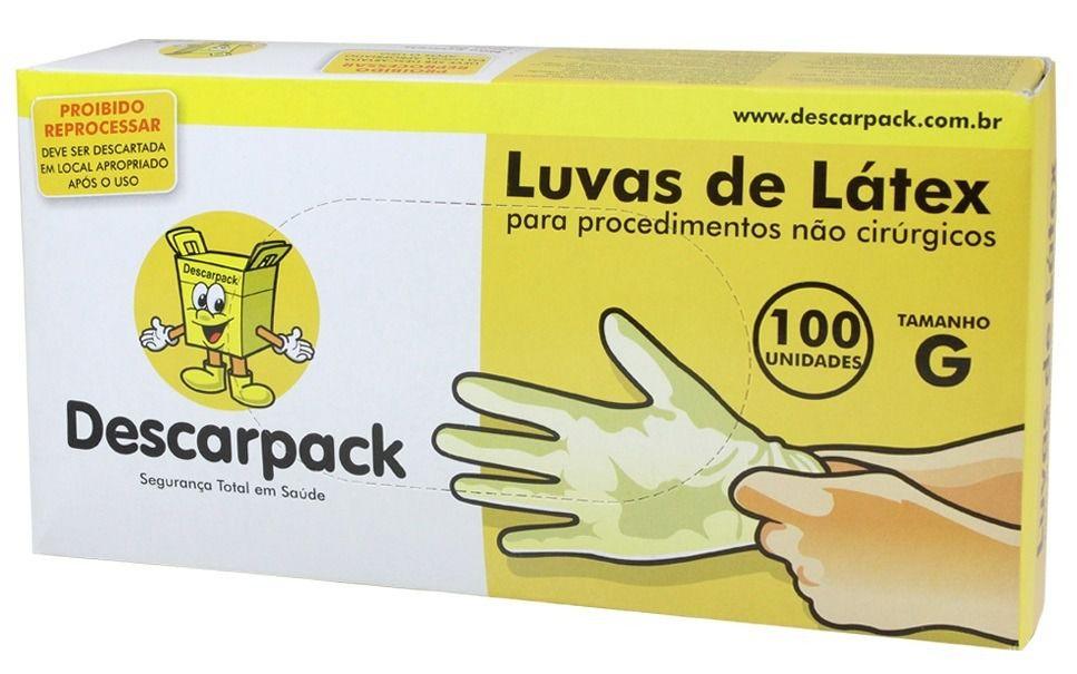LUVA DE LÁTEX COM PÓ PARA PROCEDIMENTO