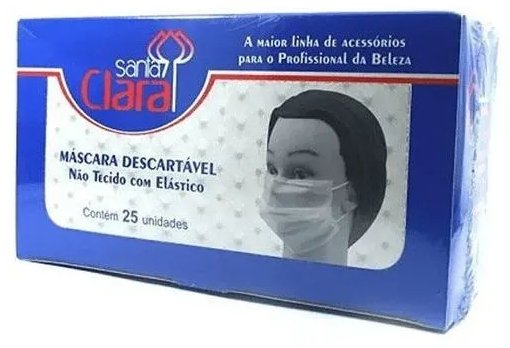MASCARA DESCARTAVEL SANTA CLARA CX25 321