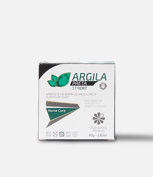 SABONETE ARGILA PRETA BARRA 80 G