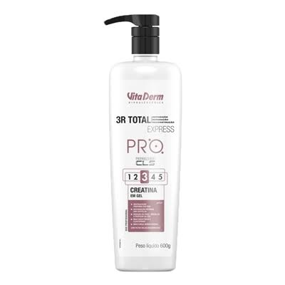 SOS CAPILAR 3R TOTAL EXPRESS CREATINA EM GEL PRO 600ML