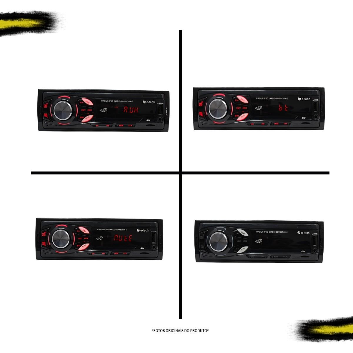 Kit MP3 Light E-Tech + 1 Par de Falantes 5 polegadas Bravox