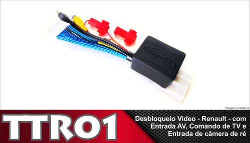 Desbloqueio de Vídeo e Tv Câmera Ré Renault Media Nav Evolution
