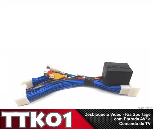 Desbloqueio de Vídeo e Tv Via Volante Sportage 2017 a 2018