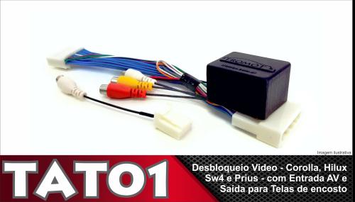 Desbloqueio de Vídeo Hilux e Sw4 a partir de 2014 Corolla a partir de 2015