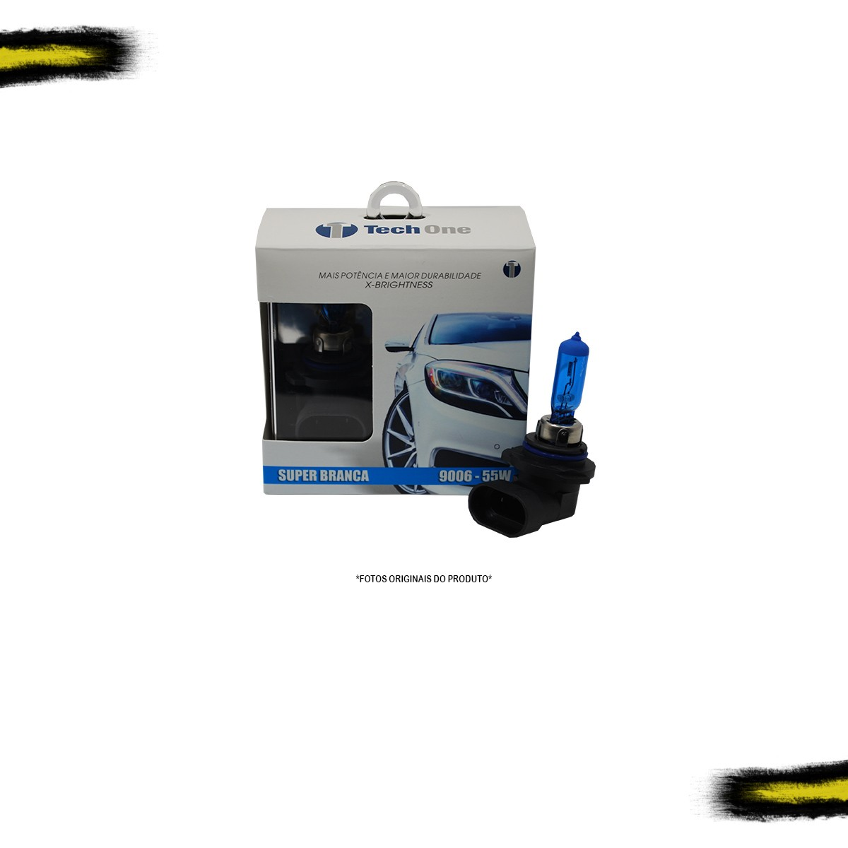 Kit Lâmpada Super Branca HB4 9006 Tech One 8500k