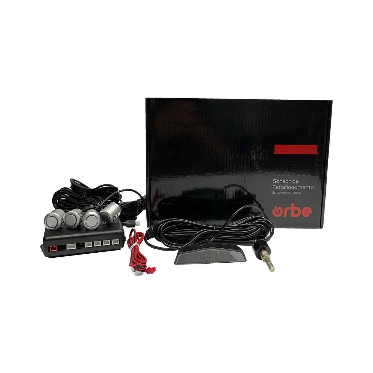 Sensor de Estacionamento Orbe B061 4 Pontos com Display Emborrachado