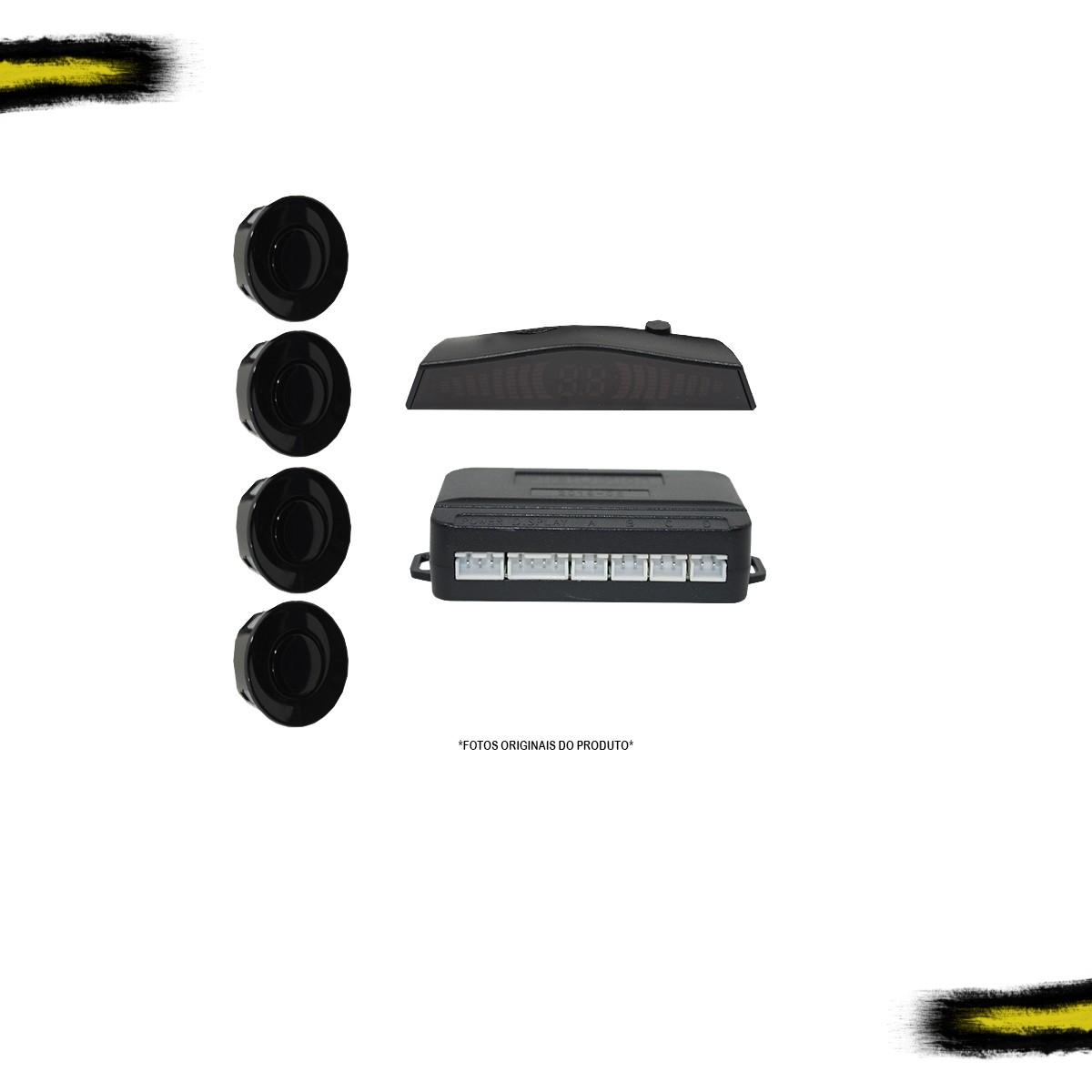 Sensor Estacionamento Automotivo First Option Display Preto