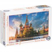Puzzle Moscou, Rússia - Idade + 10 anos - Embalagem 30 x 21 x 6cm